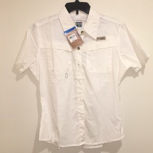 Women's Columbia Titanium Bonehead SS Shirt NWT L